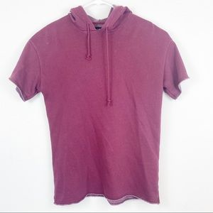 PacSun Shirts - PacSun Long Fit Short Sleeve Hoodie Size Small
